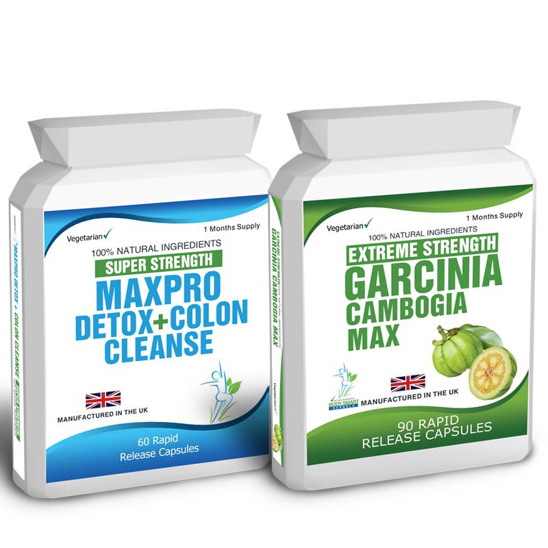 90 Garcinia Cambogia 60 Colon Cleanse Detox Slimming